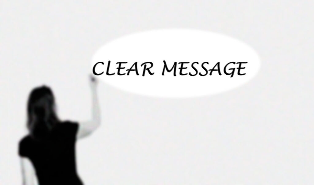 clear message
